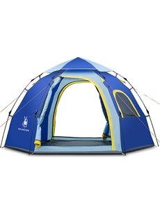 Camping Throwing Pop Up 5-8 Persons Single-layer Automatic Speed Open Tent