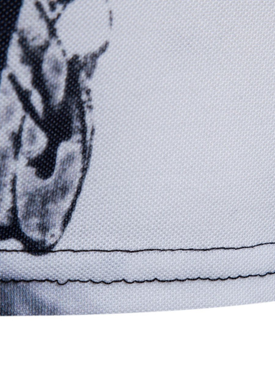 Cotton Printed Round Neck Men Short Sleeve 3D Tee T-Shirt