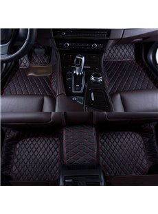 Pure Color Firm Leather Waterproof Custom Fit Car Floor Mats