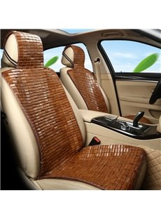 Natural Bamboo Slice Refreshing Pure Color Universal Single Car Seat Cover