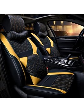 Nets Pattern PVC Material Simple Style Custom Fit Seat Covers