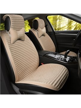 Healthy Filler Pure Color Stripe Patterns Universal Fit Seat Covers