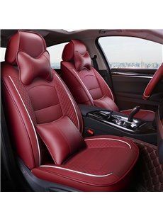 Cotton Filler Sripe Patterns Five Seats Custom Fit Car Seat Covers