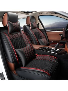 PU Material Nets Patterns Business Style All Seasons Universal Car Seat Covers