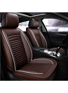 PVC Material Nets Simple Style All Seasons Five Seats Universal Car Seat Covers