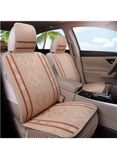 Cotton Filler Simple Style Plain Pattern All Seasons Universal Car Seat Cover