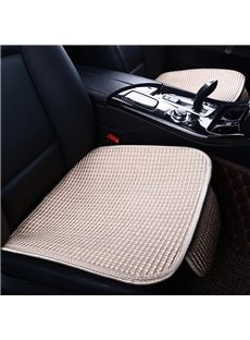 Linen Material Plain Pattern All Seasons Cotton Filler Universal Car Seat Cover