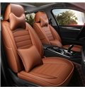 PVC Leather Business Style All Seasons Custom Fit Car Seat Covers