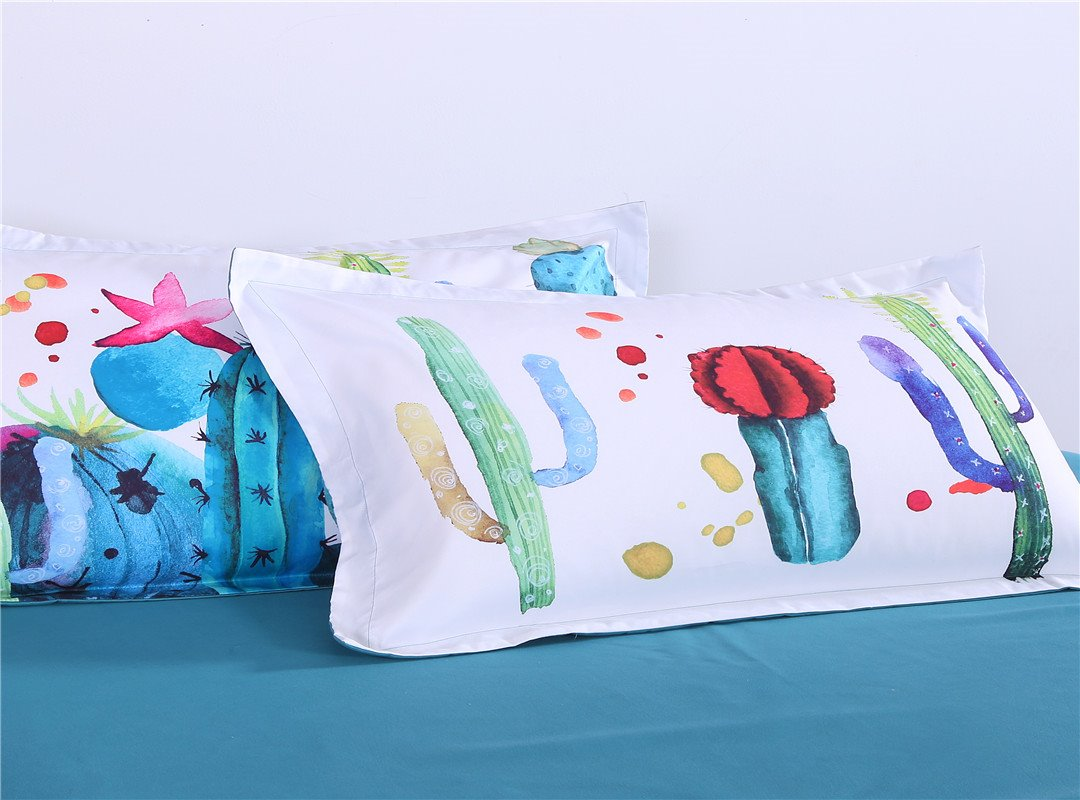 Colorful Cactus Style Pattern 4-Piece Bedding Sets/Duvet Cover