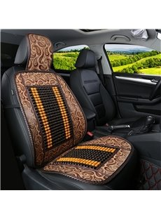 Flax Backside Leopard Print Leather Front Single-seat Universal Car Seat Covers