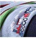 Train Patchwork Pattern 2 Pieces Cotton Duvet Cover Sets