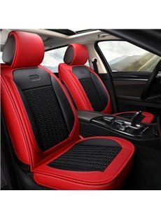 Cool Knit Backrest Classic Color Collocation Universal Leather Car Seat Covers