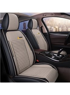 Stripe Design Color Blocking Style Refreshing Universal Leather Car Seat Covers