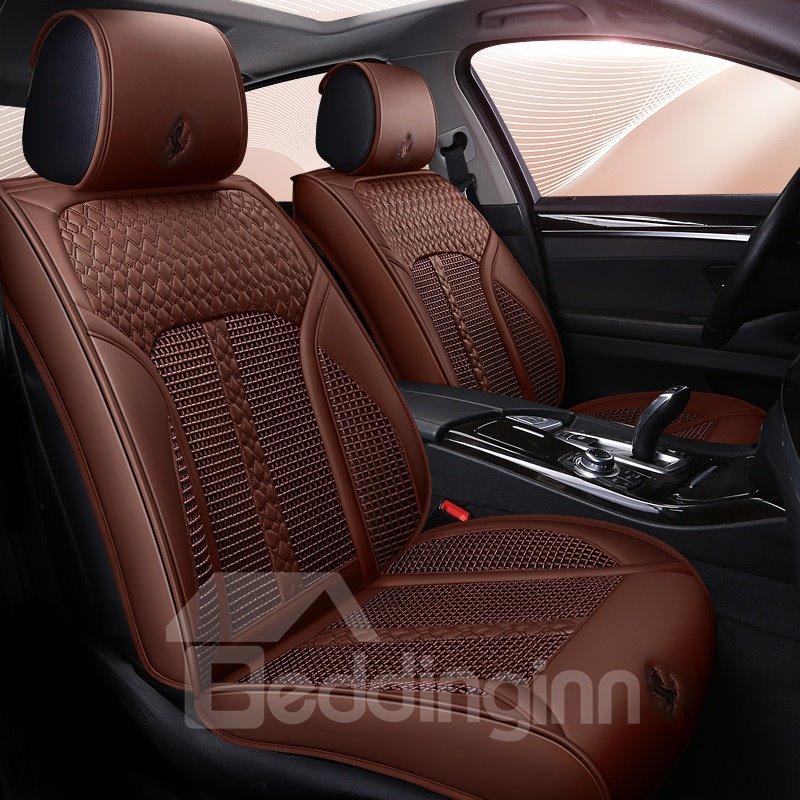 Ice Wire Backrest Smooth Leather Material Universal Car Seat Covers