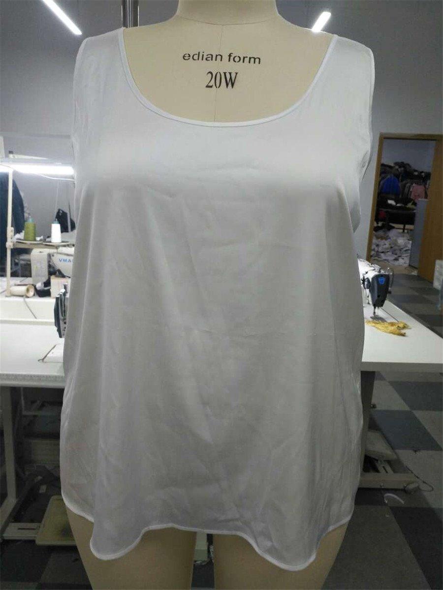 Loose Model Tiny Elasticity Thin Mid-Length Plus Size Tank Top