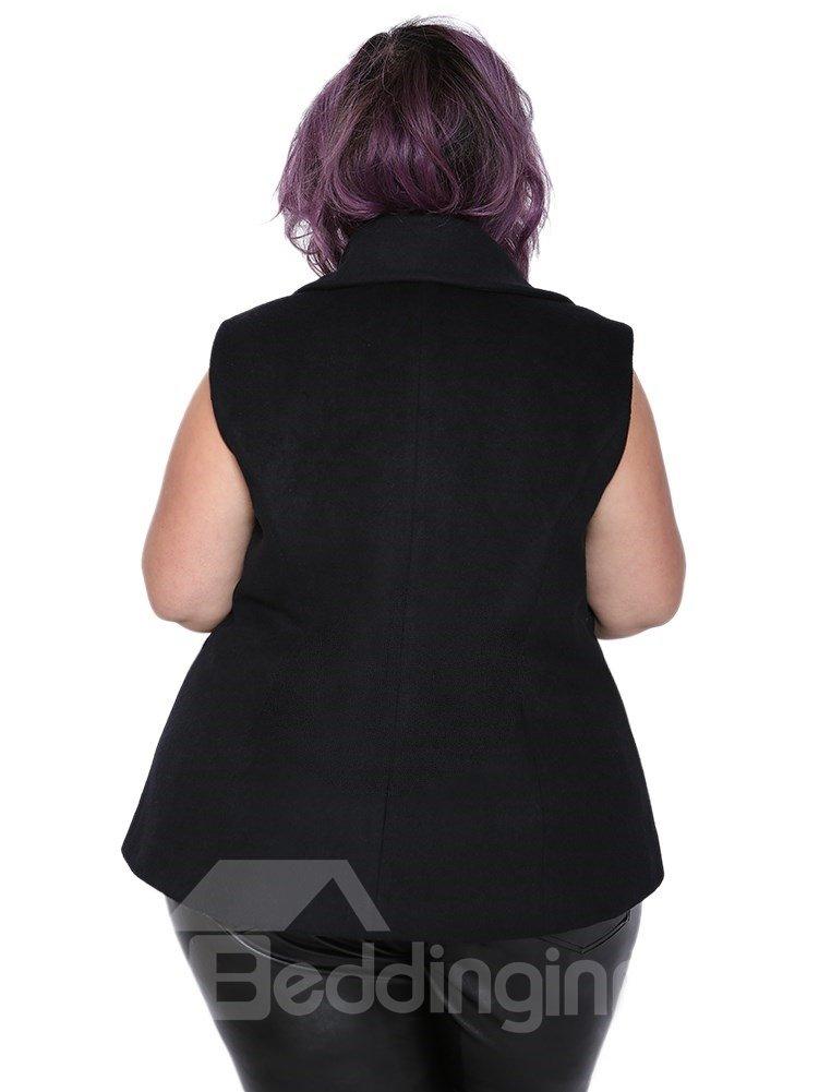 Wool Blends Material I Type Model Plain Pattern Plus Size Wool Vest