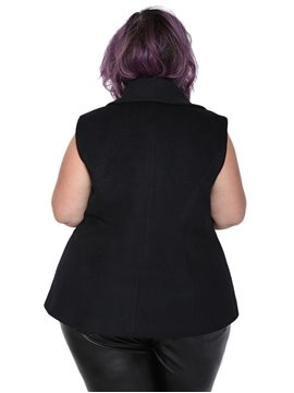 Wool Blends Material I Type Model Plain Pattern Plus Size Wool Vest