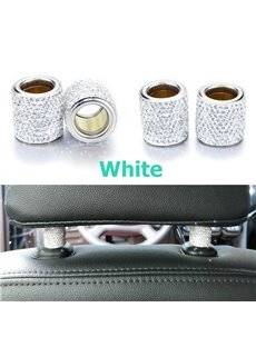 2Pieces Sparkling Rhinestone Car Pillow Holder Decoration