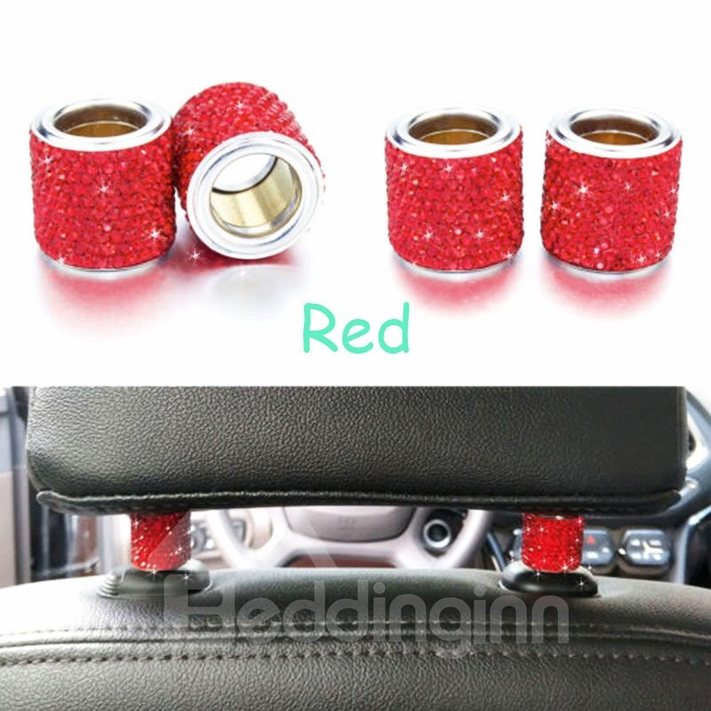 1Piece Sparkling Rhinestone Car Pillow Holder Decoration
