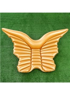 Angel Wings Butterfly Shape White Golden Color Air Mattress