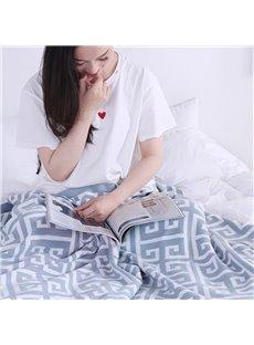 Geometric Pattern Fall Spring Season Cotton Material Bedding Blanket