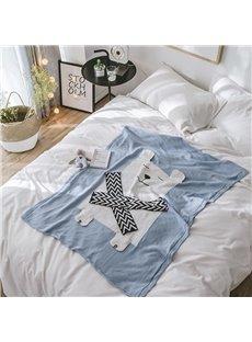 Cotton Material Animal Pattern Spring Season Bedding Blanket