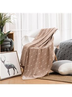 Anti-pilling Feature Cotton Material Rectangle Shape Bed Blanket