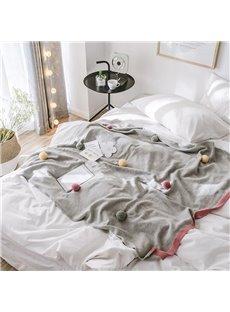 Plain Pattern Knitting Technics Portable Feature Bedding Blanket
