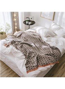 Winter Season Cotton Material Stripe Pattern Bedding Blanket