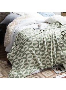 Cotton Material Winter Season Geometric Figure Pattern Blanket