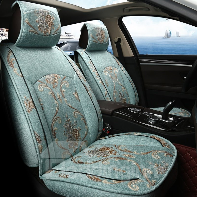 Royal Aristocracy Style Cool Linen Material Universal Car Seat Covers