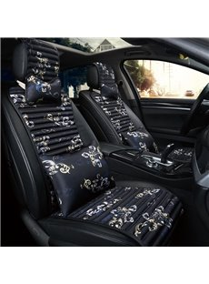 Stripes Design Polyester Classical Flower Pattern Universal Fit Car Seat Covers