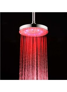 Waterfall Style LED Shining Round Shape Shower Head