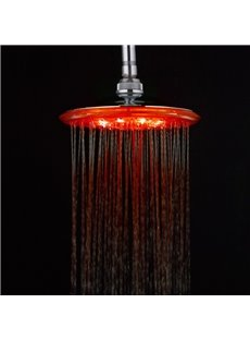 LED Shining 7 Colors Round Shape Stainless Steel Material Shower Head