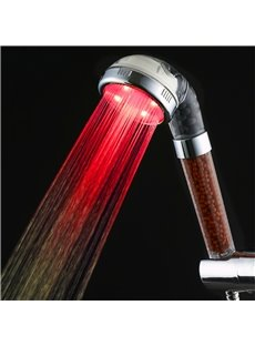 Seven Colors Temperature Control Single Holder Shower Head