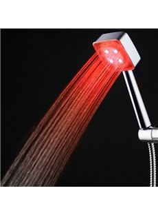 LED Shining Stainless Steel Material Round Shape Shower Head