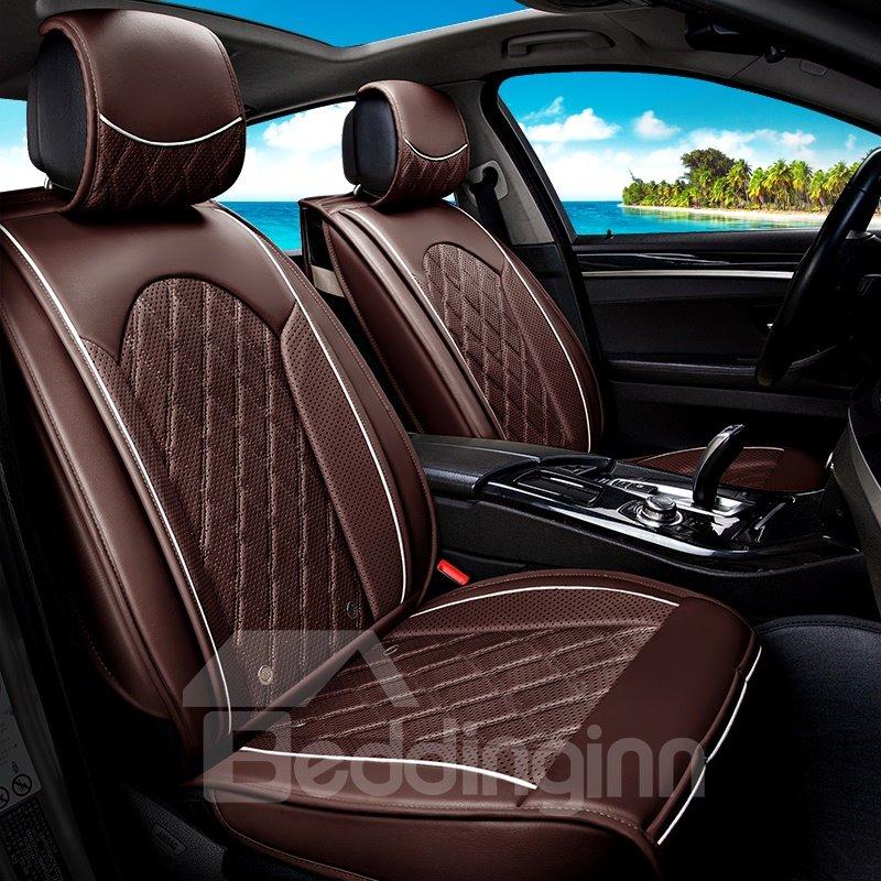 Massage Cooling All Seasons PU Material Stripe Pattern Seat Mat