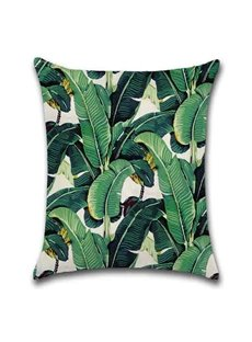 Modern Style Plant Pattern Reactive Printing Technics Pillow Case
