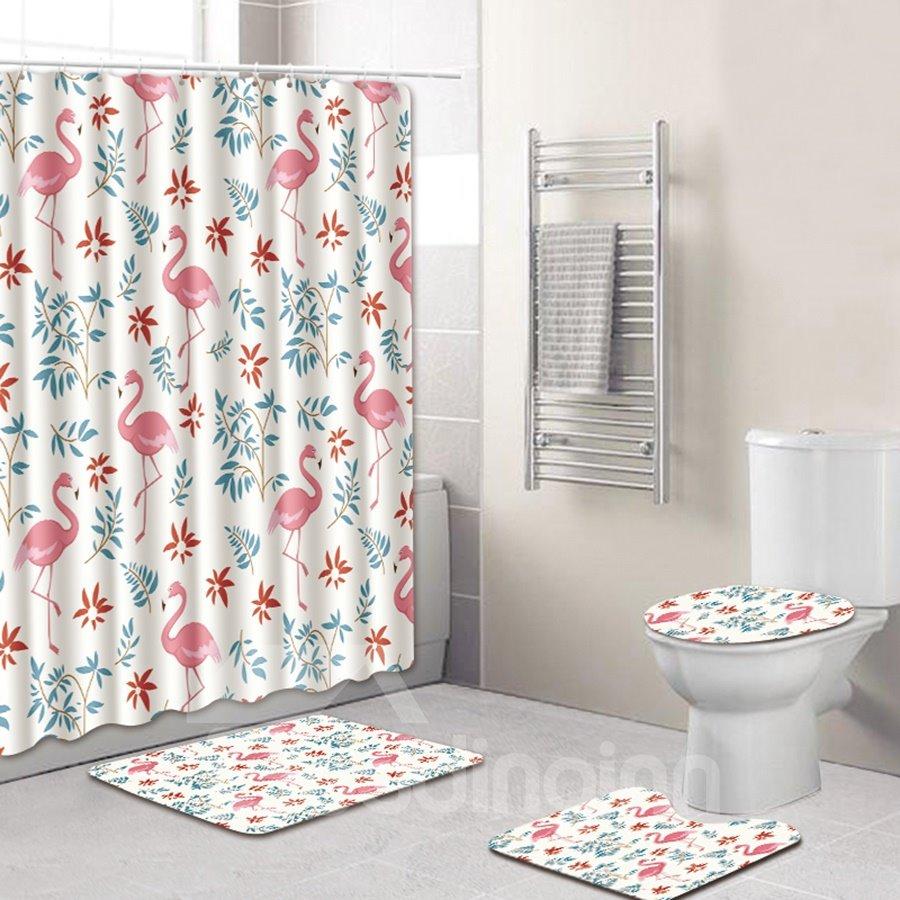 Animal Pattern PVC Material Four-piece Set 3D Shower Curtains