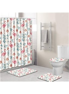 Animal Pattern PVC Material Four-piece Set 3D Shower Curtains