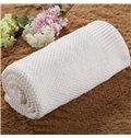 Plain Pattern Knitting Technics Cotton Material Baby Blanket