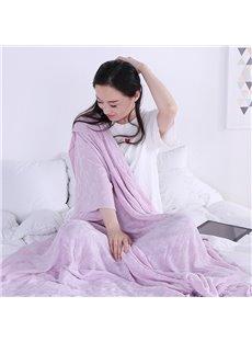 Bamboo Fiber Material Plain Pattern Modern Style Towel Blanket