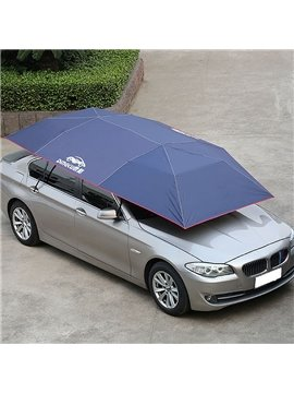 Universal Semi-automatic Summer Sunproof Solid Car Cover