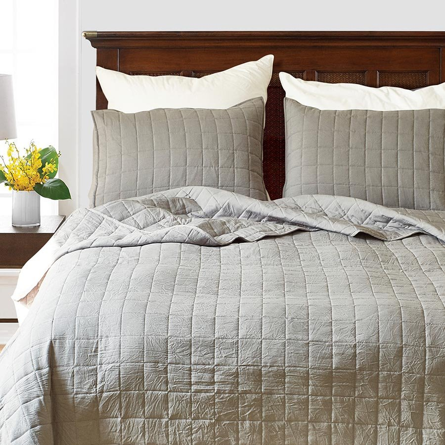 Three-Piece Set Polyester Material Grid Pattern Bedding Sets