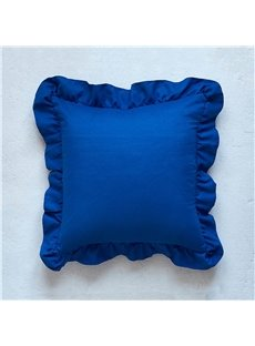Stitching Technics Polyester Material Cushion Type Throw Pillow Case