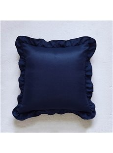 Polyester Material Cushion Type Stitching Technics Pure Color Style Throw Pillow Case