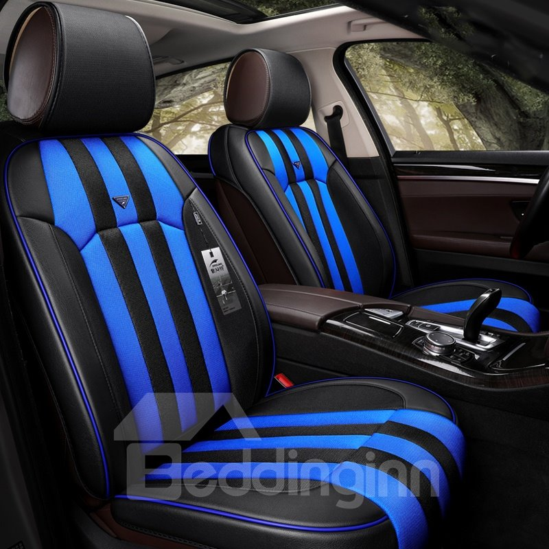 BeddingInn Bright Stripes Pattern Universal Fit Car Seat Covers Style