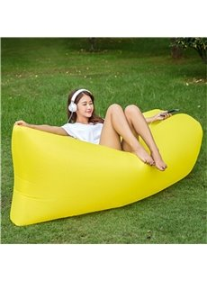 Portable Soft Polyester Fibre Bright Color Air Sofa