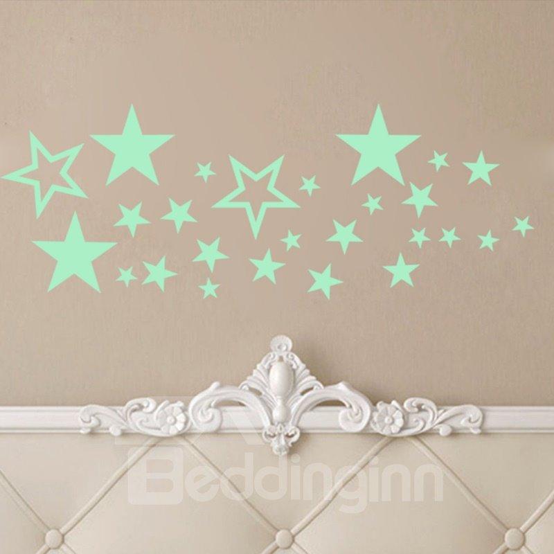 Children Glow Decor Luminous Stars Fluorescent Wall Sticker