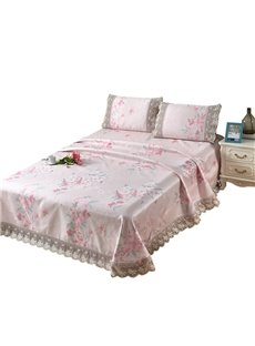 Floral Printed Pink Lace 3-Piece Summer Sleeping Mat Sets